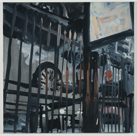 Julian Kreimer, Car Park, oil on canvas