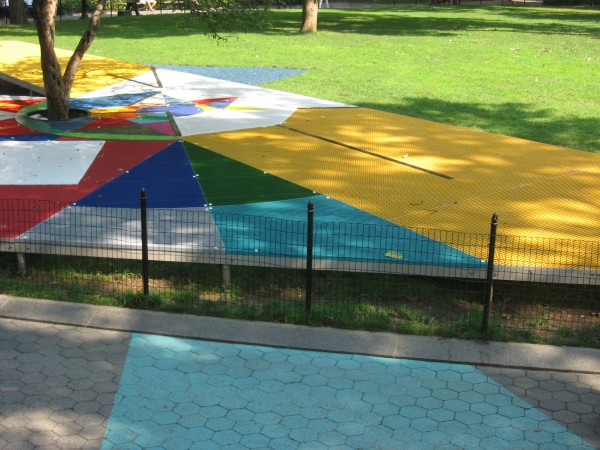 "Jessica Stockholder's ""Flooded Chambers Maid"" at Madison Square Park."