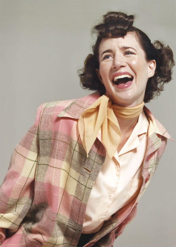 Miranda July poses as extras from classic movies for VICE.
