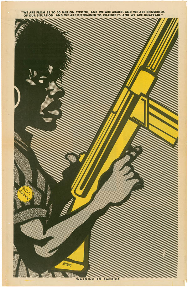 UNTITLED, offset lithograph, 1970. Copyright 2009 Emory Douglas / Artists Rights Society (ARS), New York.