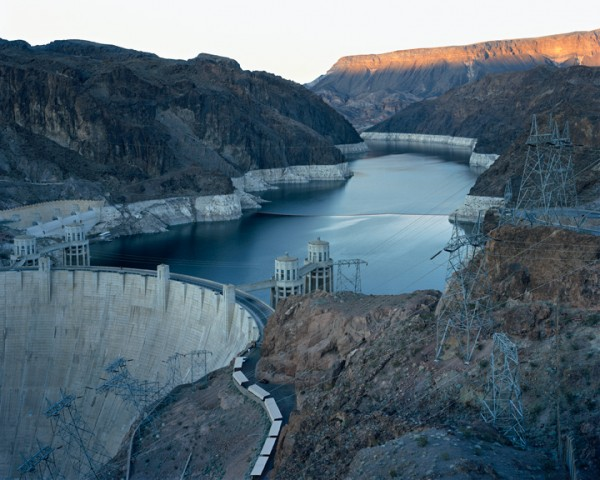 HOOVER DAM AND LAKE MEAD, NEVADA/ARIZONA. From the series AMERICAN POWER, 2007. C-print 70x92 inches. Courtesy of Sikkema Jenkins & Co., New York.