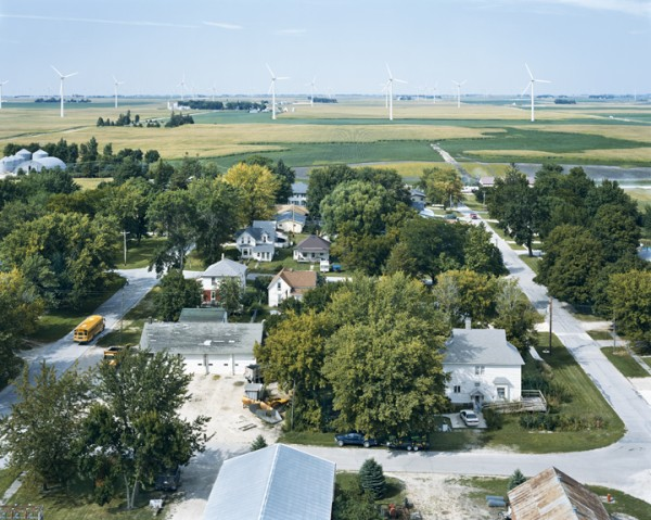 CENTURY WIND PROJECT, BLAIRSBURG, IOWA, from the series AMERICAN POWER, 2008. C-print, 70x92 inches. Courtesy of Sikkema Jenkins & Co., New York.