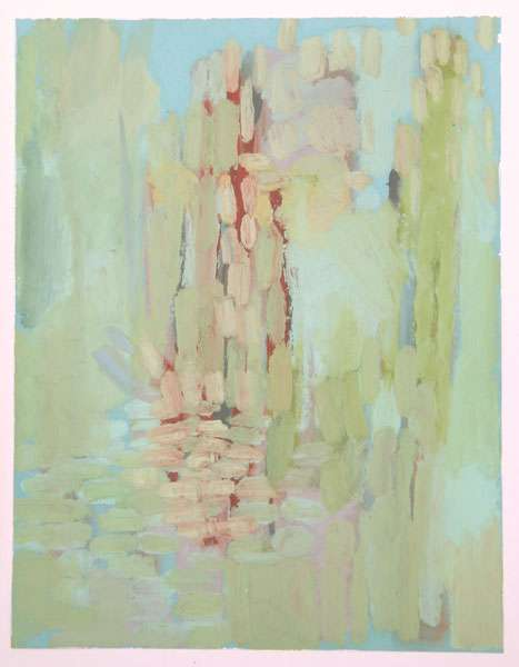 Kry Bastian, STANDING WATER SERIES #8; Oil pastel on paper; 11 x 8.5 inches. Courtesy of the artist and PIerogi Flat Files.