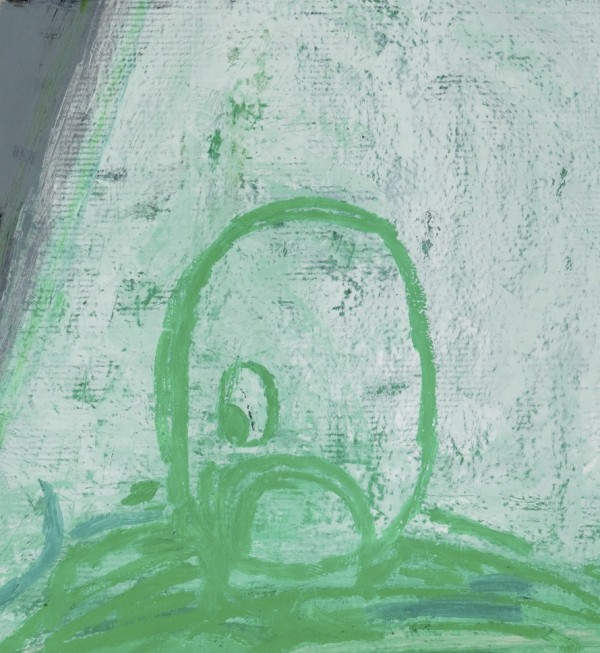 "Amy Sillman DETAIL from ""Fatso,"" 2009, oil/canvas, full painting 7'x7.5', area of detail: approx 8 inches."