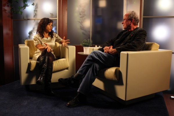 Rosie Perez and Bill Ayers. Photo by Paula Court. Courtesy of Performa. 