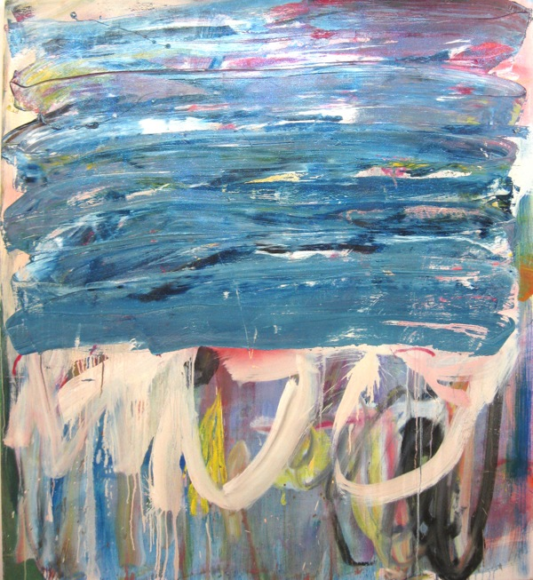 Eric Wendel, EXTRA MEDIUM VERSION, 2009, 54 x 66 inches, oil and glitter on canvas. Courtesy the artist. 